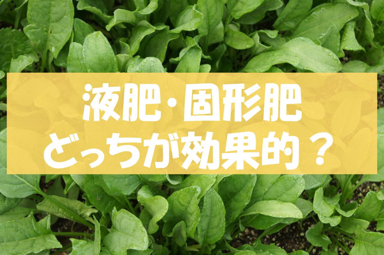液体肥料・固形肥料