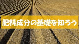 肥料の基礎